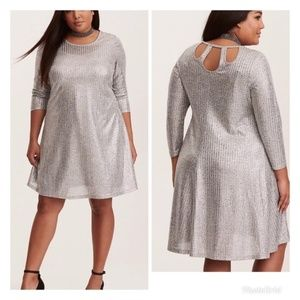 efebc9a5439f Torrid 00 Dress Silver Gray 10 Back Cut Outs